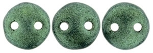CzechMates Lentil 6mm : CZL-79051 - Metallic Suede - Light Green - 25 Beads