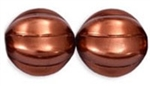 Czech Large Melon 14mm: CZM14-P12193 - Bronze - 1 piece
