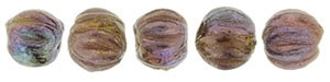 CZM3-15764 - Melon Round 3mm : Oxidized Bronze Berry - 25 Count