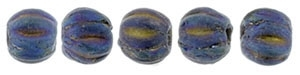 CZM3-21135 - Melon Round 3mm : Matte - Iris Blue - 25 Count