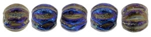 CZM3-21435 - Melon Round 3mm : Iris - Blue - 25 Count