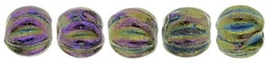 CZM3-21495 - Melon Round 3mm : Iris - Purple - 25 Count