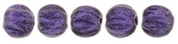 CZM3-79021 - Melon Round 3mm : Metallic Suede - Purple - 25 Count