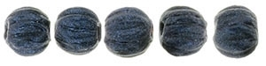 CZM3-79032 - Melon Round 3mm : Metallic Suede - Dk Blue - 25 Count
