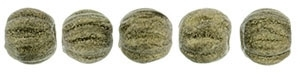 CZM3-79080 - Melon Round 3mm : Metallic Suede - Gold - 25 Count