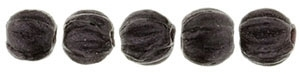 CZM3-79083 - Melon Round 3mm : Metallic Suede - Dk Plum - 25 Count