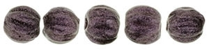 CZM3-79086 - Melon Round 3mm : Metallic Suede - Pink - 25 Count