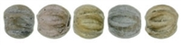 CZM3-K0167 - Melon Round 3mm : Matte - Metallic Leather - 25 Beads