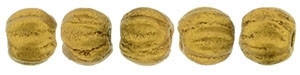 CZM3-K0174 - Melon Round 3mm : Matte - Metallic Antique Gold - 25 Count