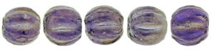 CZM3-LR2051 - Melon Round 3mm : Luster Iris - Tanzanite - 25 Count