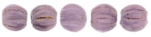 CZM3-P14415 - Melon Round 3mm : Luster - Opaque Lilac - 25 Count