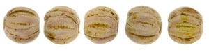 CZM3-P65491 - Melon Round 3mm : Luster - Opaque Rose/Gold Topaz - 25 Count