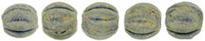 CZM3-PS1007 - Melon Round 3mm : Pacifica - Poppy Seed - 25 Count