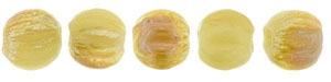 CZM3-Z13060 - Melon Round 3mm : Antique Beige - Celsian - 25 Count