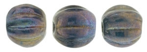 CZM5-15765 - Melon Round 5mm : Oxidized Bronze - 25 Beads