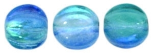 CZM5-16111 - Melon Round 5mm : Coated - Deep Sea Blue - 25 Beads