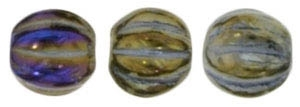 CZM5-21415 - Melon Round 5mm : Iris - Brown - 25 Beads
