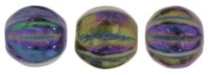 CZM5-21495 - Melon Round 5mm : Iris - Purple - 25 Beads