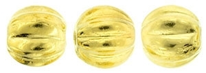 CZM5-270 - Melon Round 5mm : 24K Gold Plated - 25 Beads
