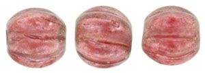 CZM5-29256 - Melon Round 5mm : Halo - Cardinal - 25 Beads