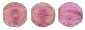 CZM5-29260 - Melon Round 5mm : Halo - Madder Rose - 25 Beads