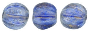 CZM5-29264 - Melon Round 5mm : Halo - Ultramarine - 25 Beads