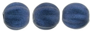 CZM5-79032 - Melon Round 5mm : Metallic Suede - Dark Blue - 25 Beads