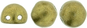 CZMCAB-04B08 - CzechMates Cabochon 7mm : ColorTrends: Satureated Metallic Golden Lime - 12 Count