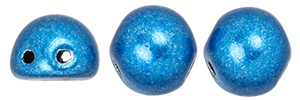 CZMCAB-06B03 - CzechMates Cabochon 7mm : ColorTrends: Saturated Metallic Nebulas Blue - 12 Count
