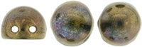 CZMCAB-15765 - CzechMates Cabochon 7mm : Oxidized Bronze - 12 Count
