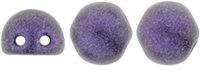 CZMCAB-79021 - CzechMates Cabochon 7mm : Metallic Suede - Purple - 12 Count
