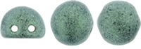 CZMCAB-79051 - CzechMates Cabochon 7mm : Metallic Suede - Light Green - 12 Count
