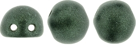 CZMCAB-79052 - CzechMates Cabochon 7mm : Metallic Suede - Dark Forest - 12 Count