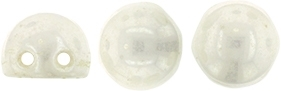 CZMCAB-L0300 - CzechMates Cabochon 7mm : Luster - Opaque White - 12 Count