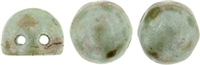 CZMCAB-P65455 - CzechMates Cabochon 7mm : Opaque ULightra Luster - Green - 12 Count