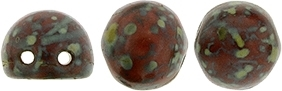 CZMCAB-T9320 - CzechMates Cabochon 7mm : Opaque Red - Picasso - 12 Count