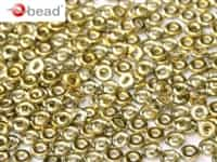CZO-00030-26441 - Czech O Beads - 1x4mm - 4 Grams - approx 136 beads - Crystal Amber