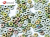CZO-03000-28171 - Czech O Beads - 1x4mm - 4 Grams - approx 136 beads - Chalk White Vitrail Matted
