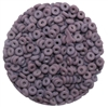 CZO-23030-84110 - Czech O Beads - 1x4mm - 4 Grams - approx 136 beads - Matte - Opaque Purple