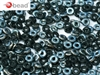 CZO-23980-27637 - Czech O Beads - 1x4mm - 4 Grams - approx 136 beads - Jet Blue Sky