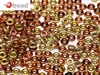 CZO-23980-98542 - Czech O Beads - 1x4mm - 4 Grams - approx 136 beads - Jet California Gold Rush