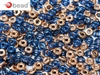 CZO-30050-27101 - Czech O Beads - 1x4mm - 4 Grams - approx 136 beads - Sapphire Capri Gold