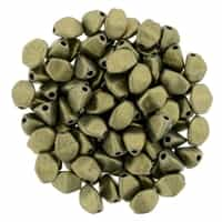 CZPB-79080 - Pinch Beads 5/3mm : Metallic Suede - Gold - 25 Beads