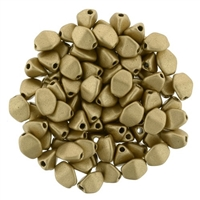 CZPB-K0171-  - Pinch Beads 5/3mm : Matte Metallic Flax - 25 Beads