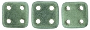 CZQT-79051 - CzechMates QuadraTile : Metallic Suede - Light Green - 25 Count