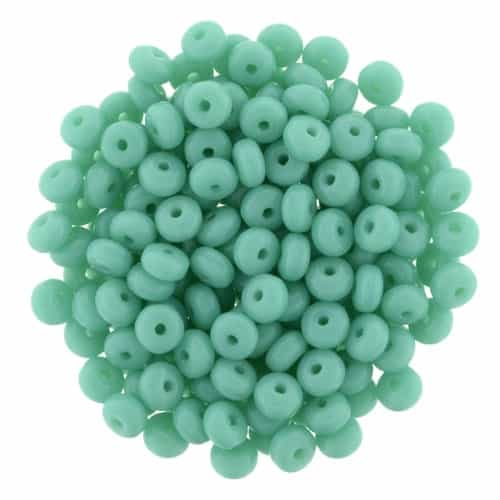 CZR3MM-6313 - Czech Rondelle 3mm : Turquoise - 25 Beads