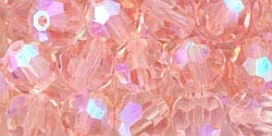 Machine Cut 4mm Round Crystals : CZRC4-X7050 - French Rose AB - 25 count