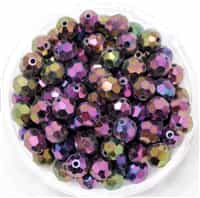 Machine Cut 6mm Round Crystals : CZRC6-21495 - Iris - Purple - 4 count