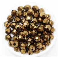 Machine Cut 6mm Round Crystals : CZRC6-90215 - Bronze - 4 count