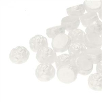 CZRCAB-25001 - Czech Rosetta 2-hole Cabochon 6mm - Pastel White - 12 Count